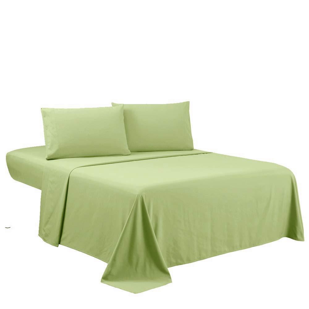 Sfoothome Full Sheets Set - Sage Green Hotel Luxury 4-Piece Bed Set, Extra Deep Pocket, 1800 Series Bedding Set, Wrinkle & Fade Resistant, Sheet & Pillow Case Set (Full, Sage Green)