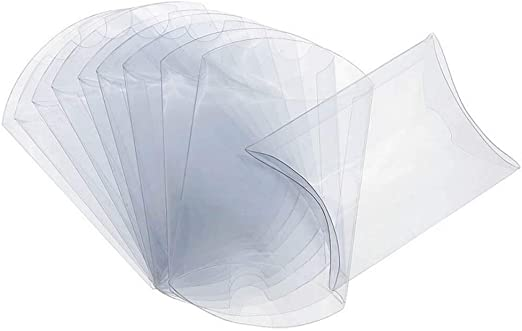 ISKYBOB 50 Piezas Cajas con Forma de Almohadas de Plástico ...