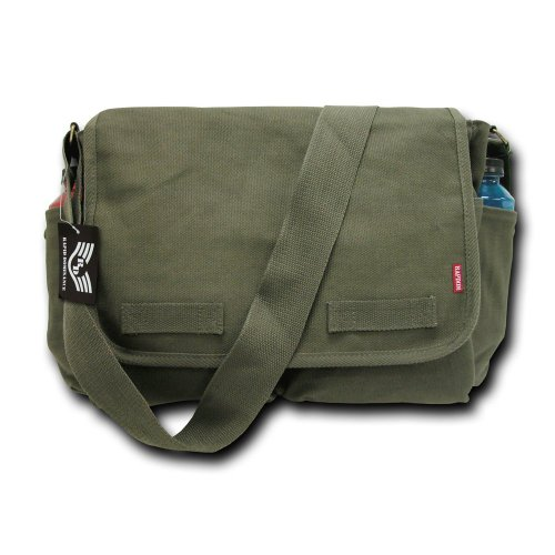 Classic Vintage Messenger Bag - Rapiddominance Classic Military Messenger Bags, Olive