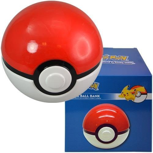 Pokemon Pokeball Kids Coin Bank Red and White