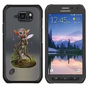 "For Samsung Galaxy S6 active / SM-G890 Case , Fairy Forest Alas Magic Nature Verde Eco"" - Diseño Patrón Teléfono Caso Cubierta Case Bumper Duro Protección Case Cover Funda"