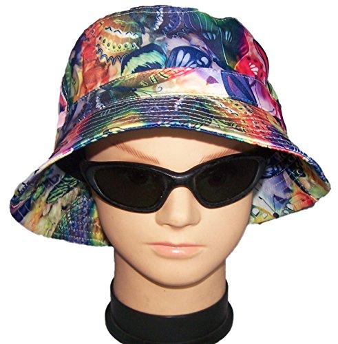 Bucket Butterfly Hat - Floppy Bucket Hats Sun Hats Summer Hats Butterflies (BucKHat14Z)