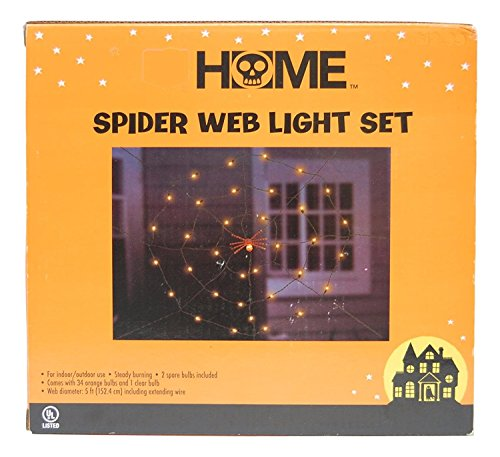 Halloween Spider Web Light Set - Halloween Spider Web Lights