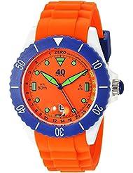 40Nine Quartz Plastic and Silicone Casual Watch, Color:Orange (Model: 40NINE02/ORANGE40)