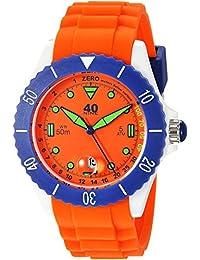 Quartz Plastic and Silicone Casual Watch, Color:Orange (Model: 40NINE02/ORANGE40)