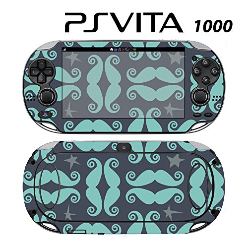 Skin Decal Cover Sticker for Sony PlayStation PS Vita (PCH-1000) - Mustache Moustache -  Decals Plus, PV1-PA21
