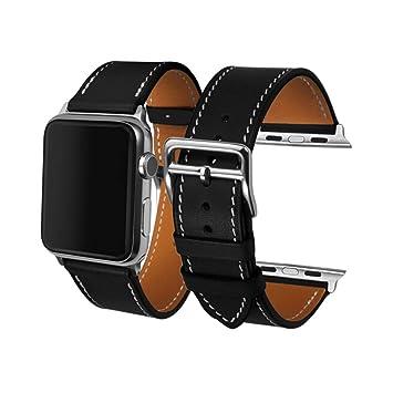 Bracelet pour Apple Watch Serie 3/ 2/ 1 apple montre bande de cuir véritable