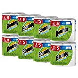 Bounty Quick-Size Paper Towels, White, Family Rolls, 16 Count (Equal...