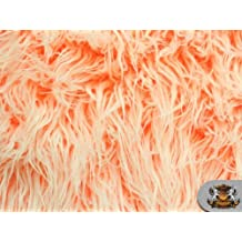Faux Fur Long Pile ULTRA MONGOLIAN 2 TONE CARROT Fabric / 64 W / Sold by the yard by FABRIC EMPIRE