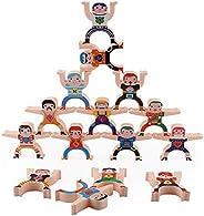 hemistin Stacking Toys, Wooden Stacking Games, Hercules Acrobatic Toys Balancing Blocks Games Toddler Educatio