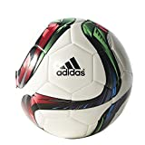 adidas Performance Conext15 Glider Soccer Ball, White/Night Flash Purple /Flash Green, Size 4