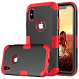 BENTOBEN iPhone X Shockproof 3 in 1 Hybrid Hard PC Shell