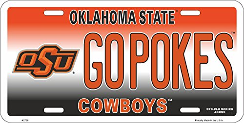 Cowboys Pokes - Oklahoma State University OSU Cowboys Go Pokes Aluminum License Plate Tag