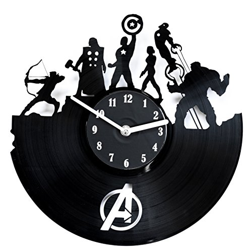 secondlifeforvinyl Avengers Vinyl Record Clock