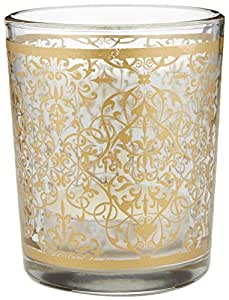 "Kate Aspen ""Golden Renaissance"" Glass Tealight Holder (Set of 4)"