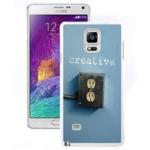 Fashion Custom Designed Cover Case For Samsung Galaxy Note 4 N910A N910T N910P N910V N910R4 Creative White Phone Case