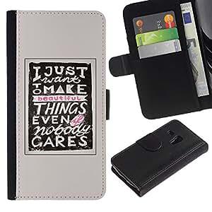 LASTONE PHONE CASE / Lujo Billetera de Cuero Caso del tirón Titular de la tarjeta Flip Carcasa Funda para Samsung Galaxy S3 MINI NOT REGULAR! I8190 I8190N / Make Things Inspiring Motivational