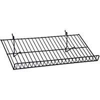 KC Store Fixtures A03069 Flat Shelf Fits Slatwall, Grid, Pegboard, 23-1//2 W x 14 D, White /(Pack of 6/) 23-1//2 W x 14 D