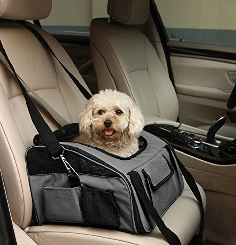 Iconic Pet FurryGo Luxury Booster Seat, Small, Dark Grey by Iconic Pet (Image #5)