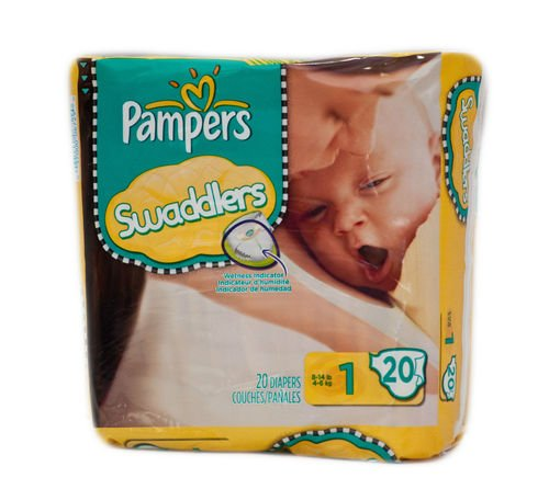 Pampers Swaddlers Size 1 - 2 Cases of 240 Count Diapers by Procter & Gamble