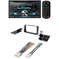 2003-2008 COROLLA DOUBLE 2 DIN CAR STEREO RADIO INSTALL DASH KIT W/ WIRE HARNESS + Kenwood Double Din Bluetooth CD Player USB/AUX Car Radio Receiver DPX502BT