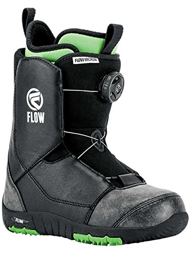 Flow Micron Boa Kids Snowboard Boots 2018-7.0/Black - Flow Zone All Mountain Snowboard