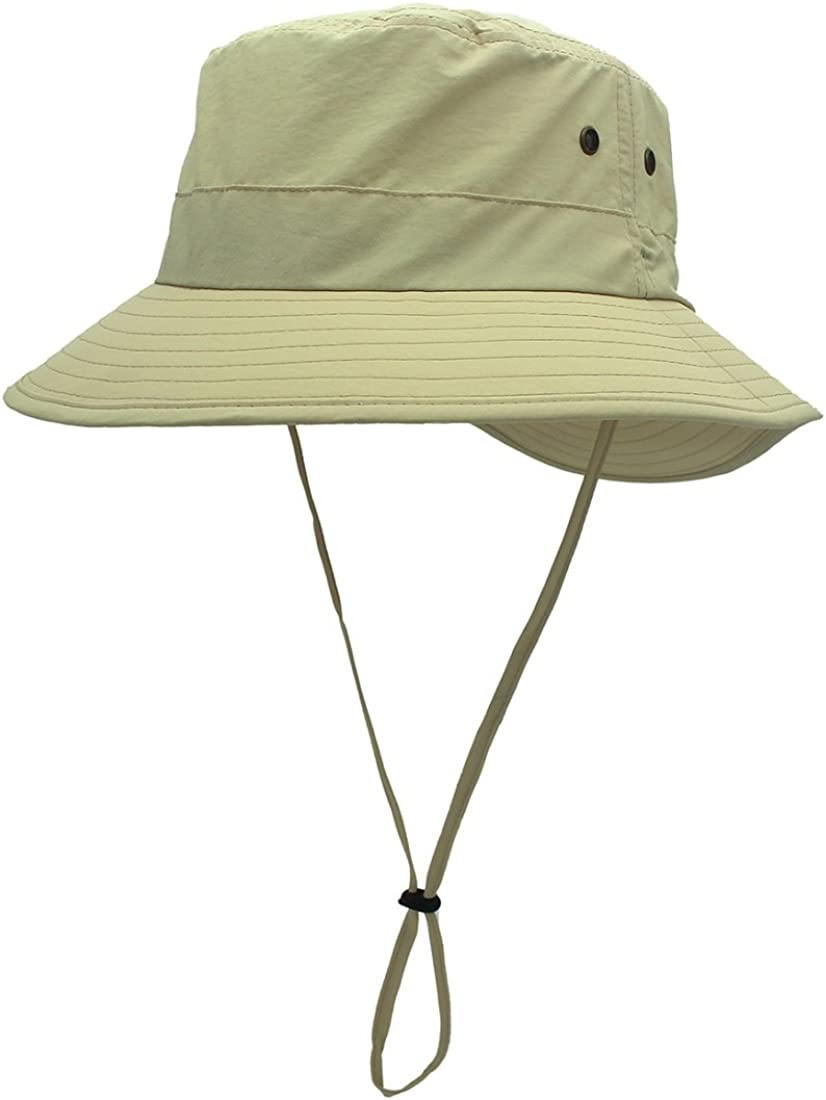 LLmoway Women Lightweight Safari Sun Hat Quick Dry Fishing Hat with Strap Cool