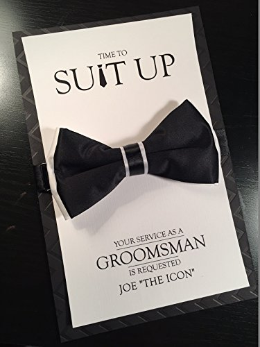 Amazon groomsman card time to suit up bow tie card your groomsman card time to suit up bow tie card your service is requested junglespirit Image collections