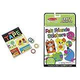 Melissa & Doug Tape Activity Book & Felt Stickers Bundle