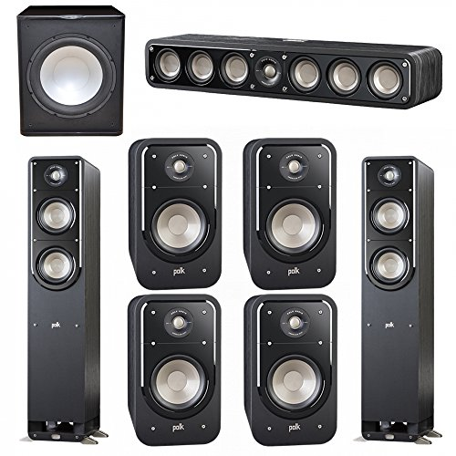 Buy Polk Audio Signature 7.1 System with 2 S50 Tower Speaker, 1 Polk S35 Center Speaker, 4 Polk S20 Bookshelf Speaker, 1 Premier Acoustic PA-150 Powered Subwoofer (online)