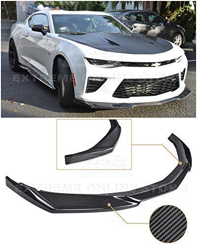 Replacement For 2016-2018 Chevrolet Camaro SS Models   ZL1 Style CARBON FIBER Front Bumper Lower Lip Splitter