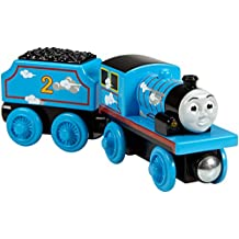 Fisher-Price Thomas & Friends Wooden Railway, Roll & Whistle Edward - Battery Operated