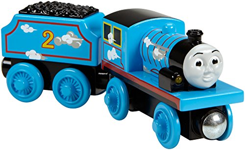 Fisher-Price Thomas & Friends Wooden Railway, Roll & Whistle Edward - Battery Operated - Edward 2 Light