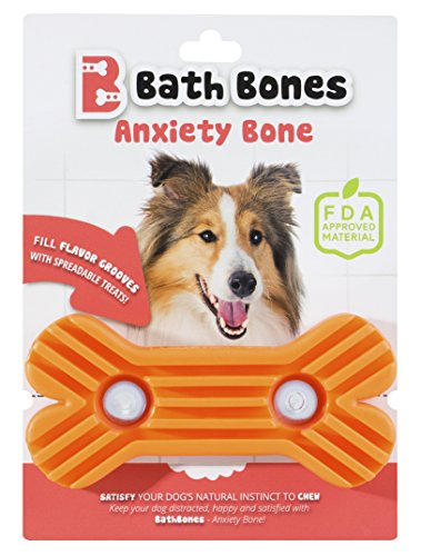 Bath Toss (Bath Bones | Anxiety Bone | FDA Approved | Combats Dog's Anxiety During Stressful Events | Simply Spread, Stick & Lick)