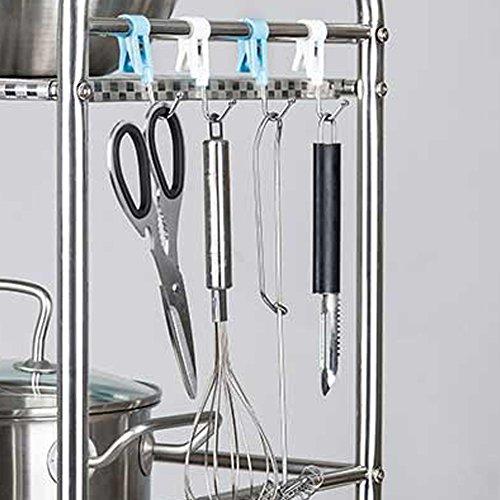 olpchee 5 pcs especialmente utensilios de cocina de ganchos perchas de metal Ganchos de acero inoxidable colgantes macetas sartenes toallas (color al azar): ...