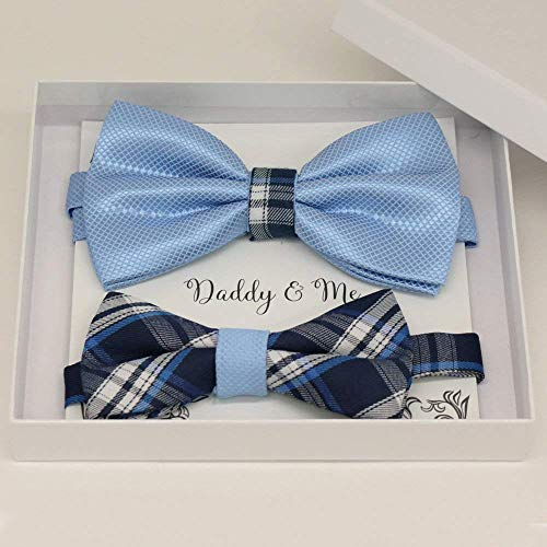 Blue Bow tie set for daddy and son,