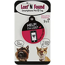 Platinum Pets The Original Smartphone Dog ID Tag with GPS, Medium, Pink
