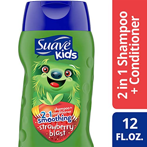 Suave Kids 2 in 1 Shampoo and Conditioner, Strawberry Smoothers, 12 oz (Suave Kids Hair Smoothers)