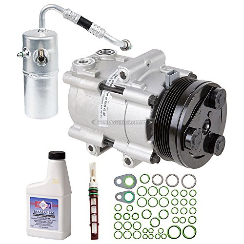 New AC Compressor & Clutch With Complete A/C Repair Kit For Ford F150 4.6L 5.4L - BuyAutoParts 60-81386RK New
