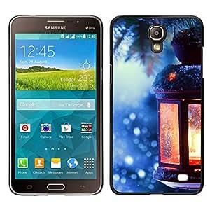 Caucho caso de Shell duro de la cubierta de accesorios de protección BY RAYDREAMMM - Samsung Galaxy Mega 2 - Hielo del árbol de navidad de la linterna de invierno Picea