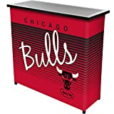 NBA Chicago Bulls Portable Bar with Case, One Size, Black