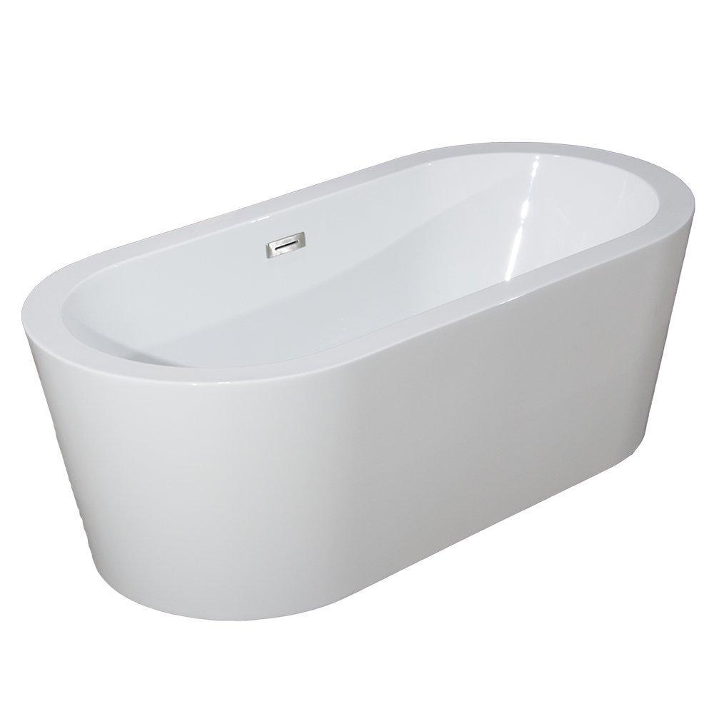 Woodbridge 67'' B-0002 Acrylic Freestanding Bathtub Contemporary Soaking Tub