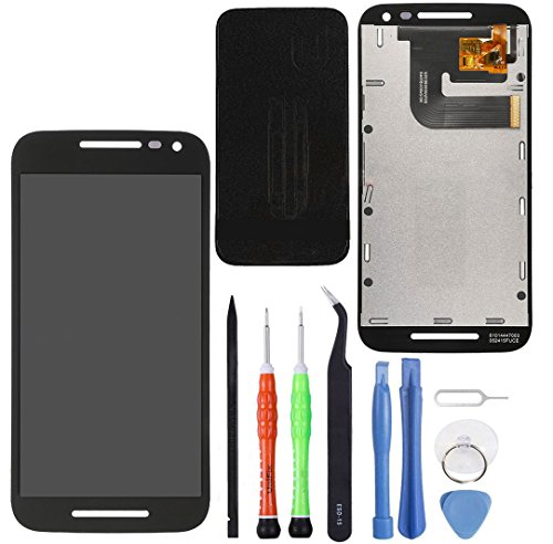 (Unifix Black LCD Display Touch Screen Glass Digitizer Assembly Replacement for Motorola Moto G3 3rd Gen XT1540, XT1543, XT1548 + Repair Toolkit)