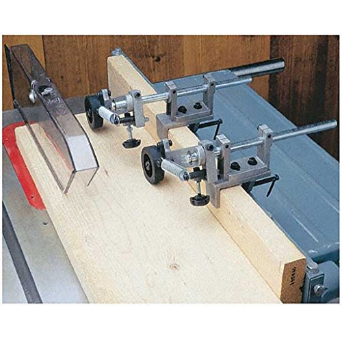 TimmyHouse Router Table & Table Saw Anti-Kickback Fence Feeder Safety Roller System ()