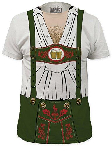 TeeShirtPalace Octobeerfest Oktoberfest Costume 2XL Off-White T-Shirt (German Costume)