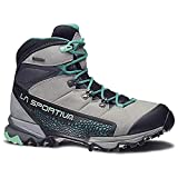 La Sportiva Women's Nucleo High GTX Hiking Shoe, Grey/Mint, 39.5
