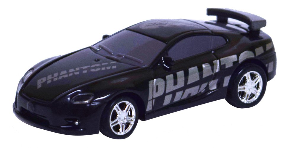 As Seen On TV RC Pocket Racers Remote Controlled Micro Race Cars Vehicle, Phantom Black PKRACER