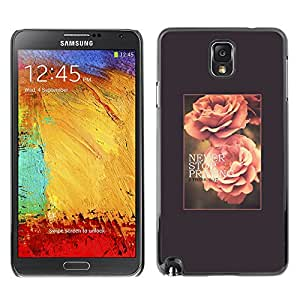 Planetar® ( Rose Flower Spring Text Summer Vignette ) SAMSUNG Galaxy Note 3 III / N9000 / N9005 Fundas Cover Cubre Hard Case Cover