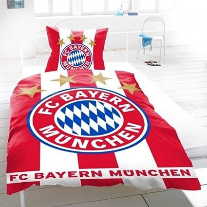 Fcb Fc Bayern München Bettwäsche Biber Fahne Amazonde Sport