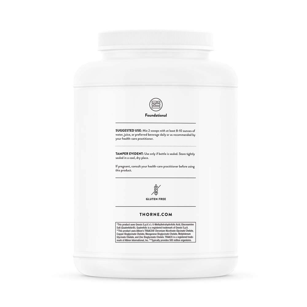 Thorne Research - MediPro Vegan All-in-One Shake - Vegetable-Based Protein Powder - 22 g Protein, 6 g Fiber, Non-GMO Ingredients - Vanilla Flavor - 46.6 oz by Thorne Research (Image #8)